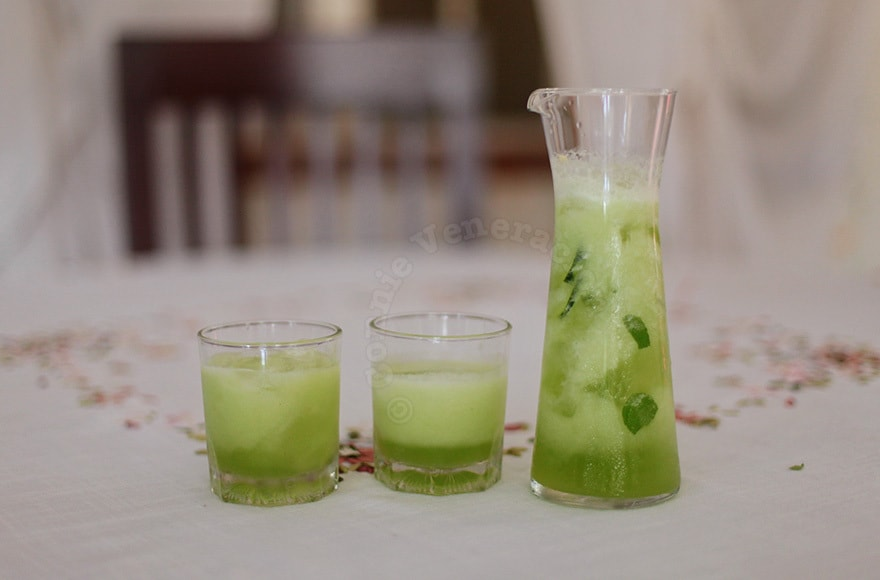 Cucumber and mint agua fresca | casaveneracion.com
