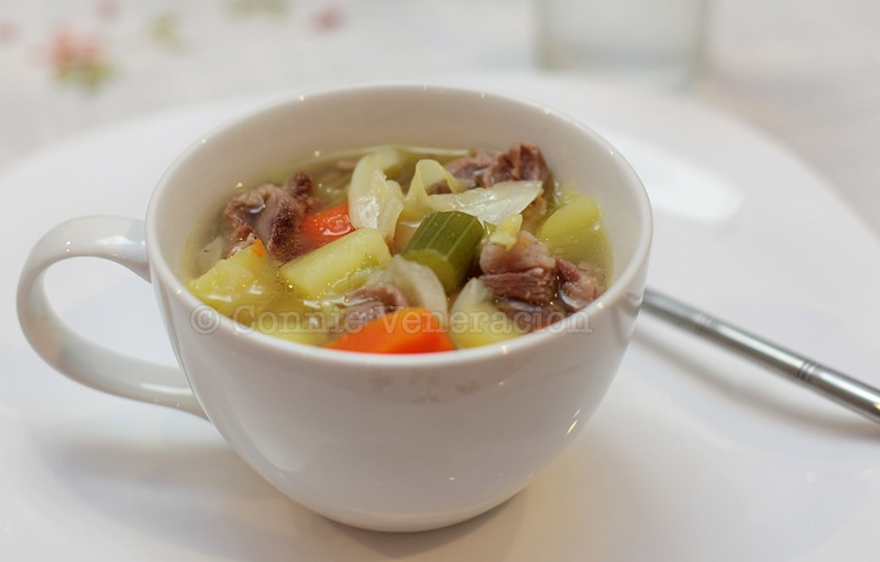 A la Welsh Cawl (Boiled Lamb and Vegetables Soup) | casaveneracion.com