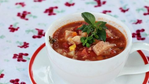 Tomato Soup Cooked With Leftovers