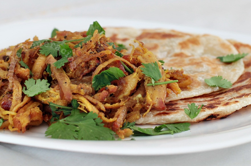 Pulled Pork Curry With Paratha | casaveneracion.com