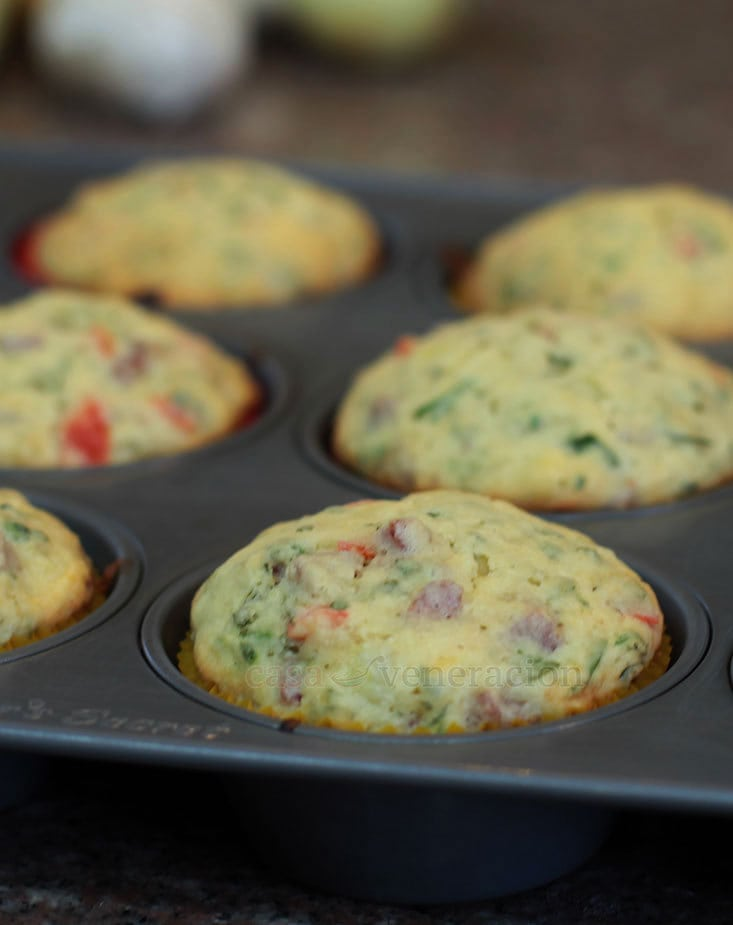 Savory Confetti Muffins Recipe, Step 4: Cool the muffins in the pan