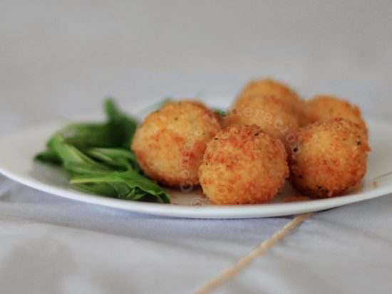 Mozzarella-stuffed Deep Fried Mashed Potato Balls