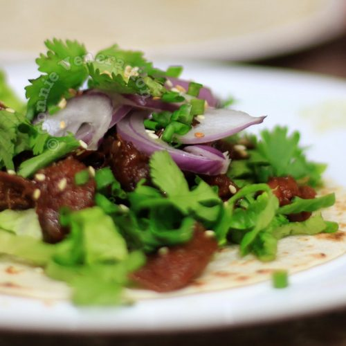 Korean beef stew tacos (a.k.a. my version of Kogi BBQ's short-rib tacos)