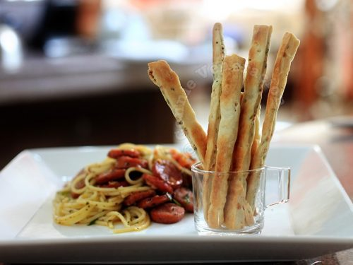 Bread Sticks With Onion, Garlic and Basil
