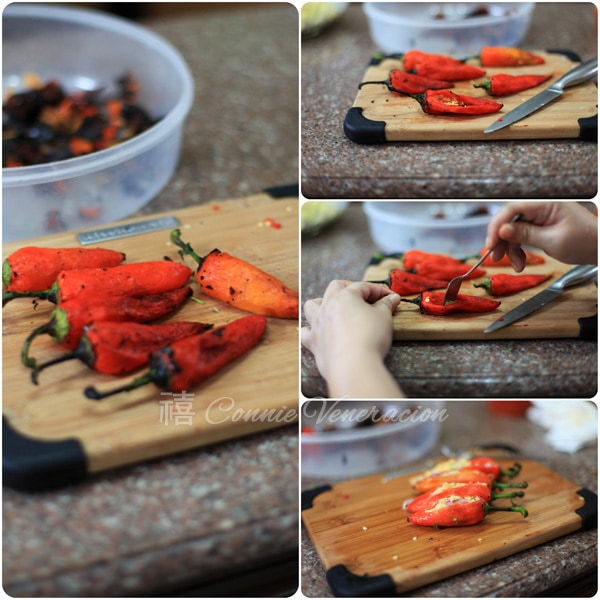 How to make Cheese-stuffed peppers a la chili relleno