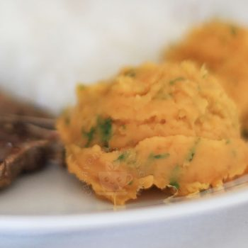 Buttery Mashed Sweet Potatoes