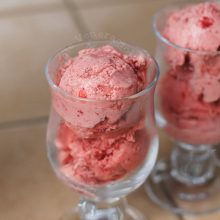 Very strawberry ice cream