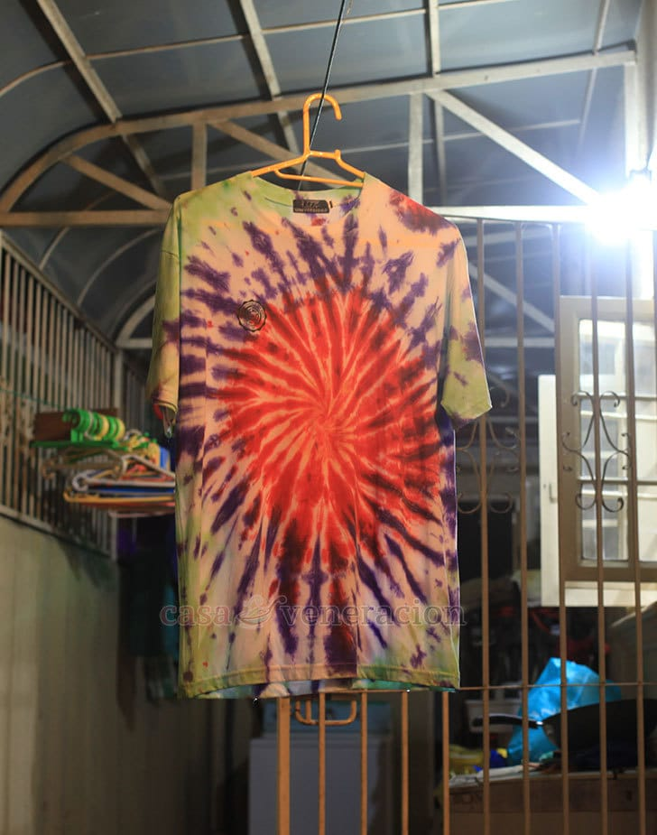 Tie-dye: how Sam spruced up old t-shirts