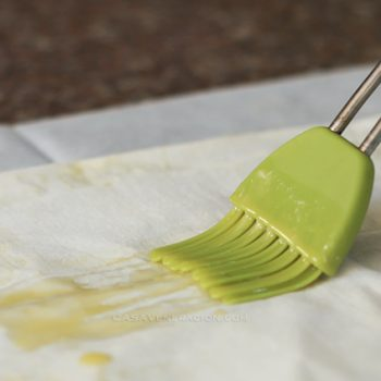 When buying a silicone pastry / basting brush, look for the grooves