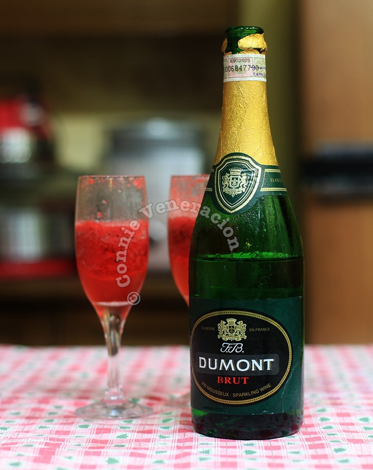Strawberry fizz and a few things about Champagne and sparkling wines | casaveneracion.com
