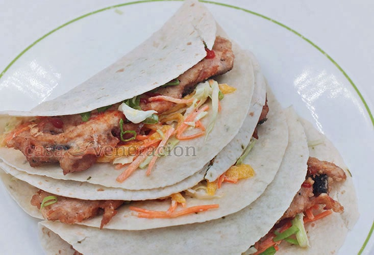 Learn to Make Fish Tacos, Asian style