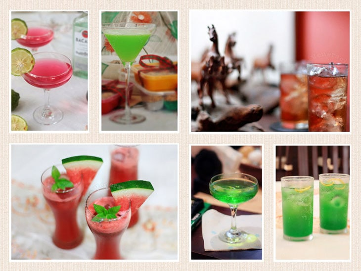 Serving cocktails on a holiday party? Choose brightly colored cocktails to help create a festive mood. Or give classics a new spin. Check out this list.