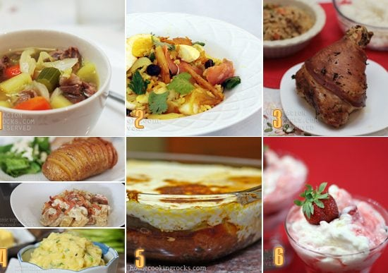 A smorgasbord of European-inspired dishes in a Christmas menu