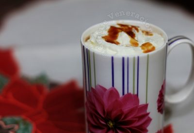 Hot chocolate with salted caramel