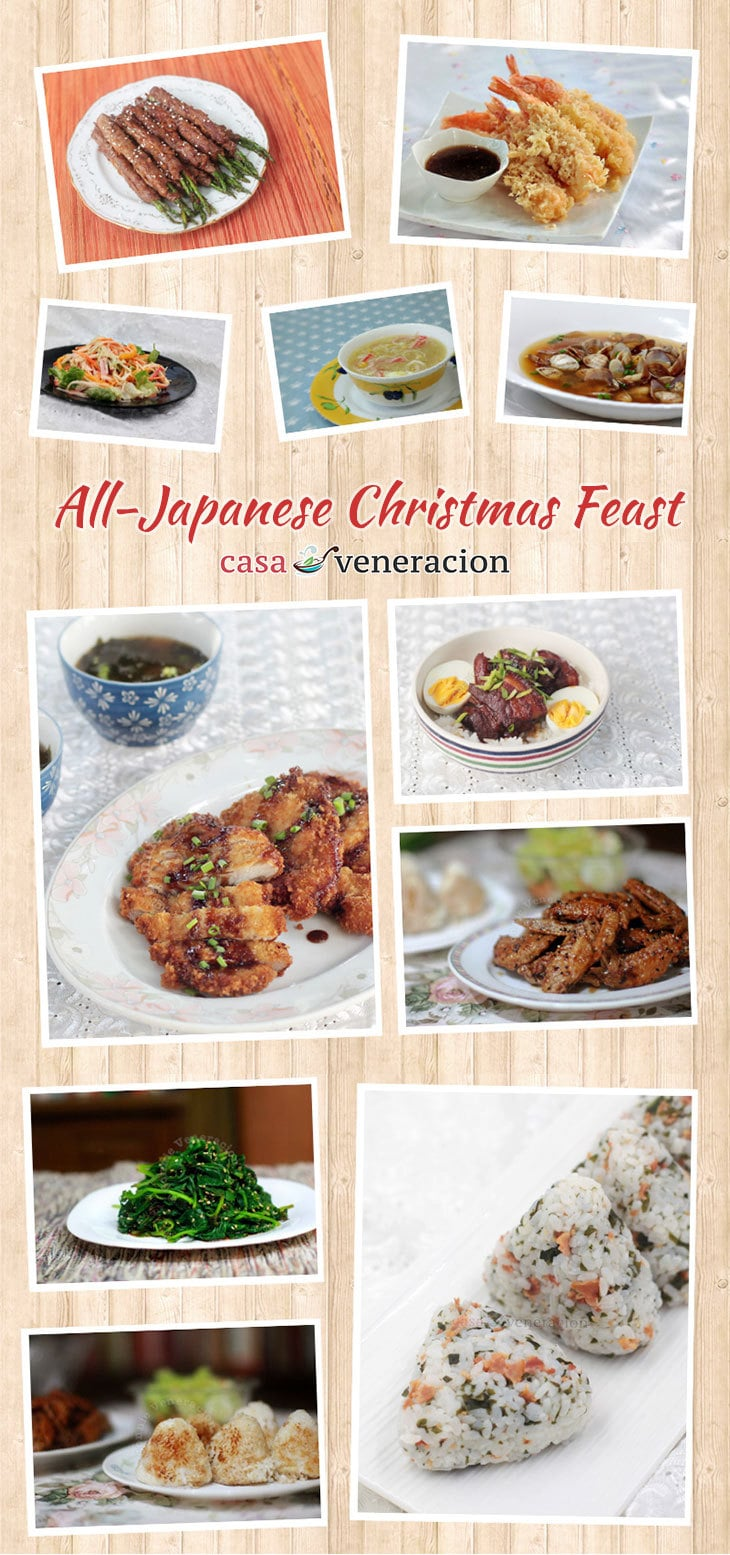 For you who are not so much into traditional Christmas menus and you love Japanese food, you might want to consider a meal that consists of Japanese dishes.