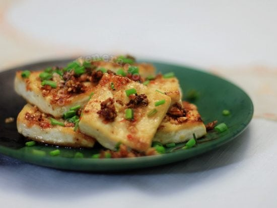 Lemongrass and chili stuffed tofu