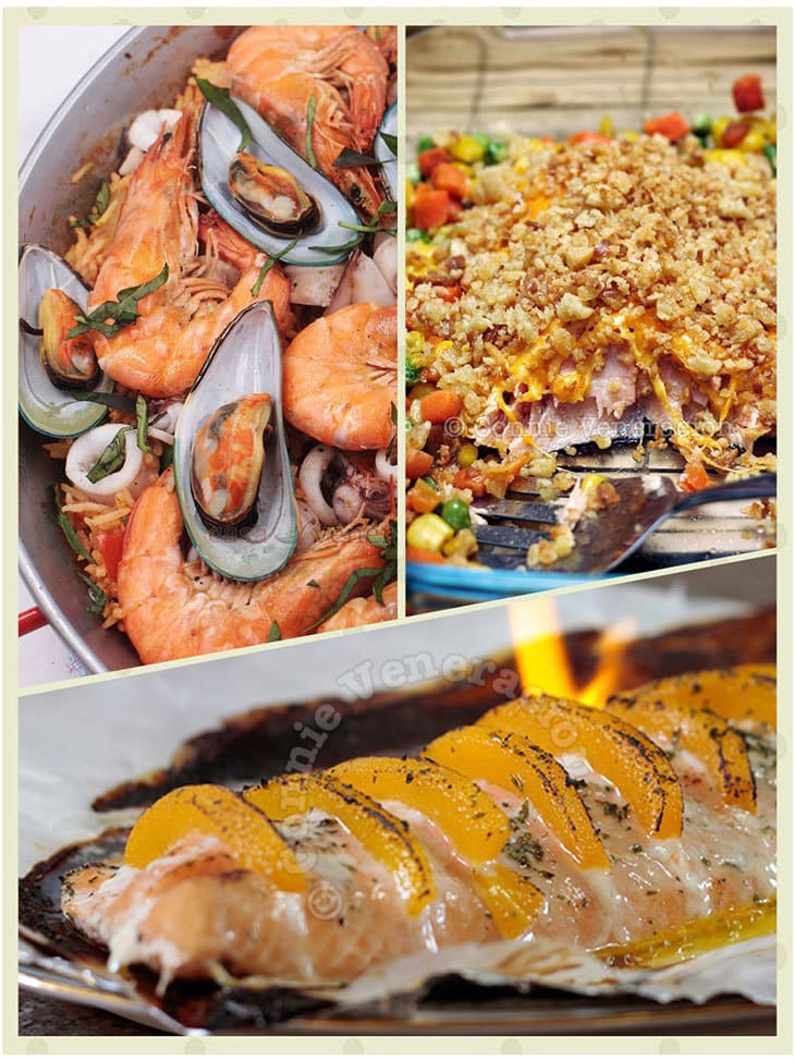 Do your Christmas party differently this year with a seafood-centric holiday meal. Choose from these delectable starters, salads, soups and main dishes.