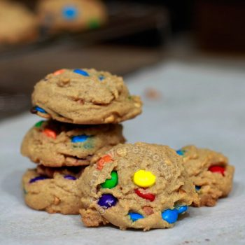 Chunky peanut butter and chocolate candy cookies