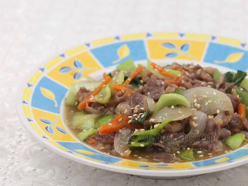 Chinese-style Beef and Bok Choy Stir Fry