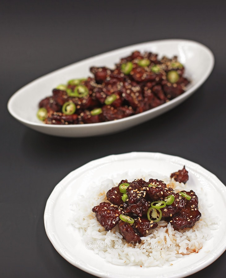 Pork version of P.F. Chang's Mongolian beef | casaveneracion.com