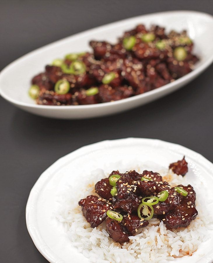 Pork version of P.F. Chang's Mongolian beef