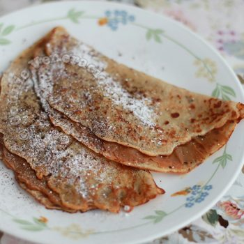 Peanut Crepes With Dulce de Leche Filling