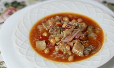 Tripe, Sausage and Chickpea Soup