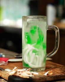 buko (coconut) and pandan jelly drink