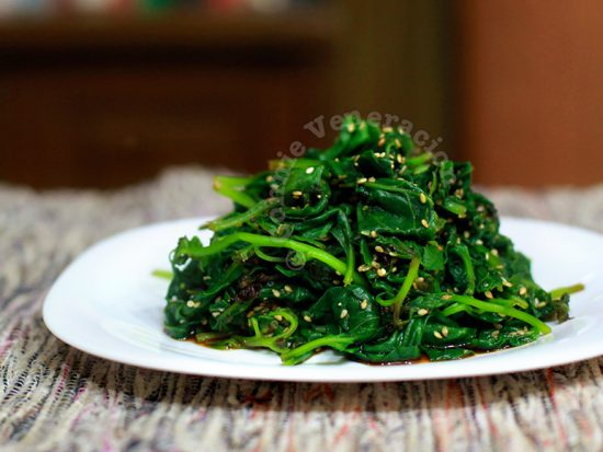 Oshitashi or goma-ae? Whatever. It's spinach salad with roasted sesame dressing