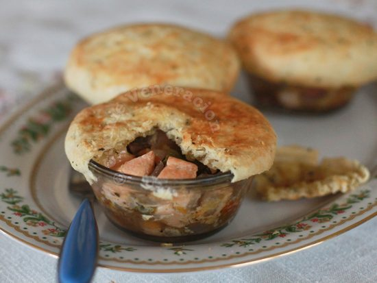 Salmon and Vegetables Pot Pies