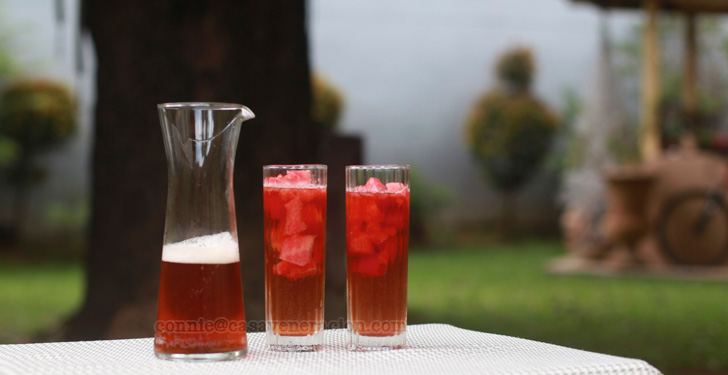 Watermelon iced tea | casaveneracion.com
