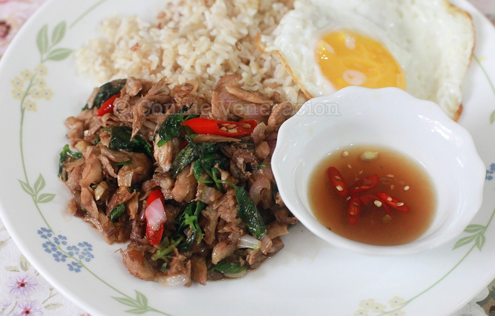 Phat Kaphrao (Thai Stir Fried Meat With Basil and Chili) | casaveneracion.com
