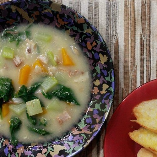Mushroom Soup With Pork and Vegetables