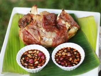 Crispy pata (pork hock) with no frying