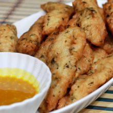 Fish Fingers With Honey Mustard Sauce