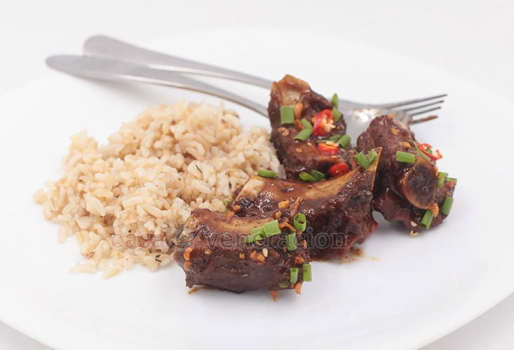 Make Chinese-style braised pork ribs with black beans and chili sauce recipe today!