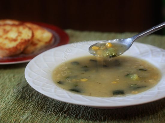 Corn and zucchini soup