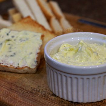 Herbed cream cheese and butter spread