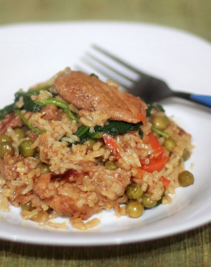Paprika and tomato rice
