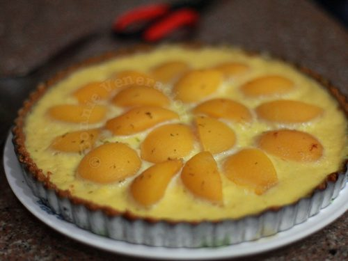 Peach and Custard Tart