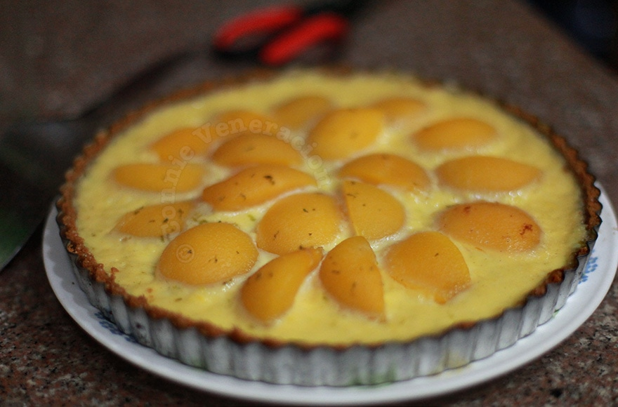 Peach and Custard Tart | casaveneracion.com