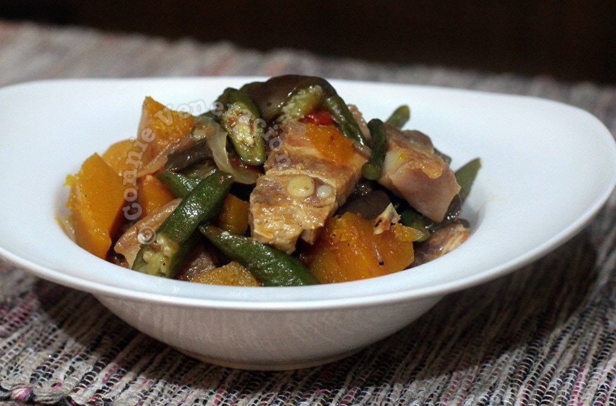 Pinakbet, an Ilocano pork and vegetable stew | casaveneracion.com