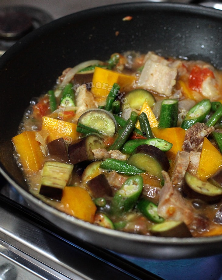 Pinakbet, an Ilocano pork and vegetable stew