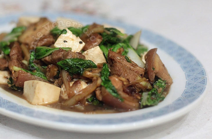 Stir-fried Pork, Bok Choy and Tofu