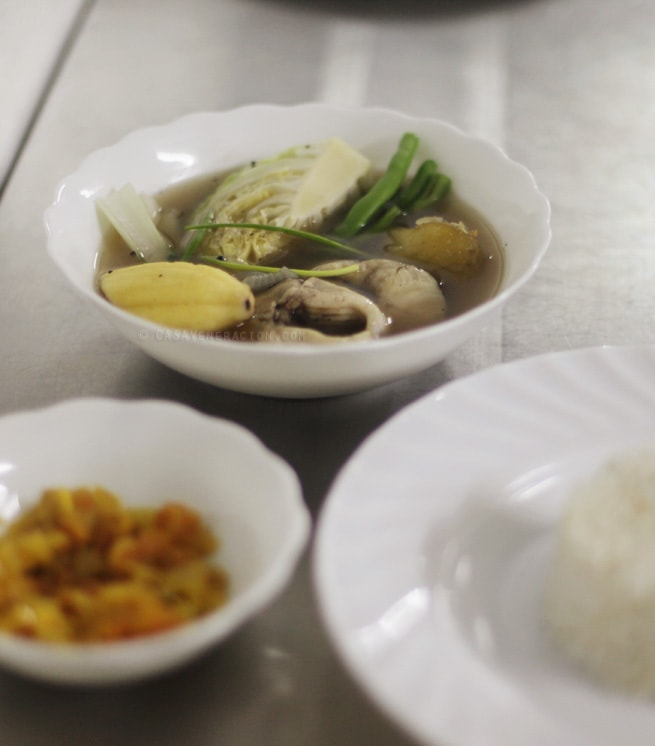 casaveneracion.com fish soup with vegetable (pesang dalag) with rice