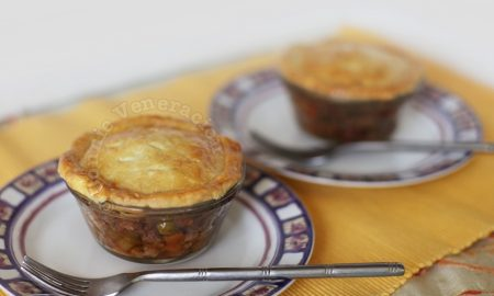 Pork and bacon pot pies