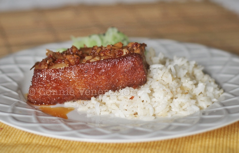 Crispy Pork Belly With Sambal Sauce | casaveneracion.com