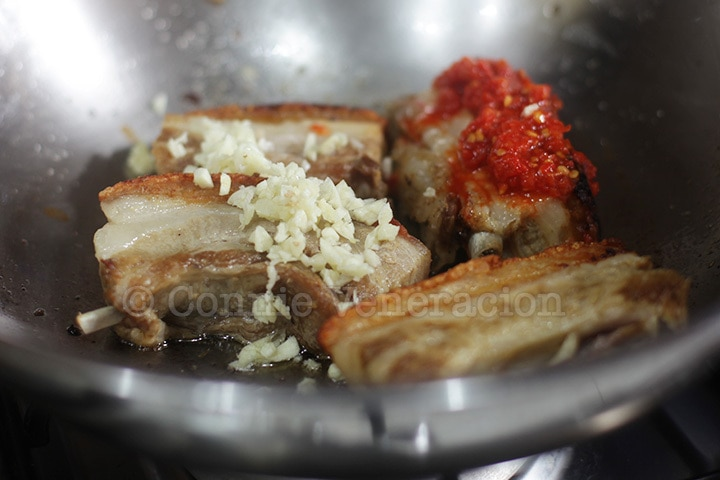 Crispy Pork Belly With Sambal Sauce