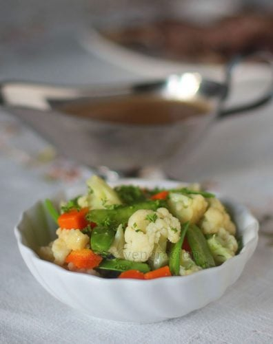 Blanched Vegetables Tossed With Butter and Herbs Recipe