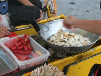 Ambulant fishballs vendor in the Philippines